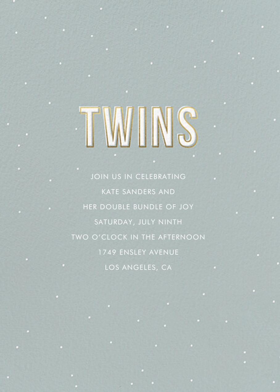 Gold Lines (Twins) - Sage - Sugar Paper