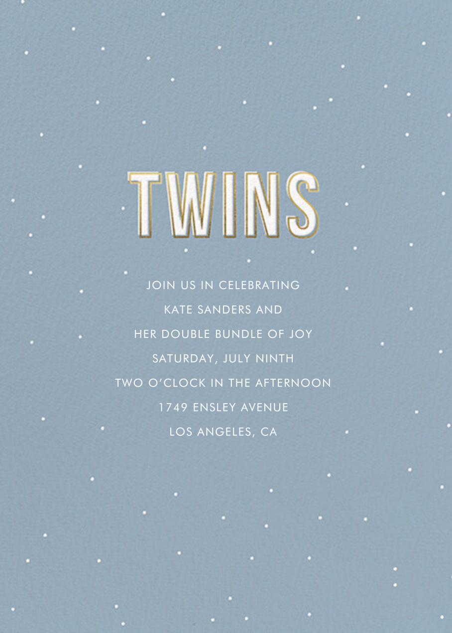 Gold Lines (Twins) - Spring Rain - Sugar Paper
