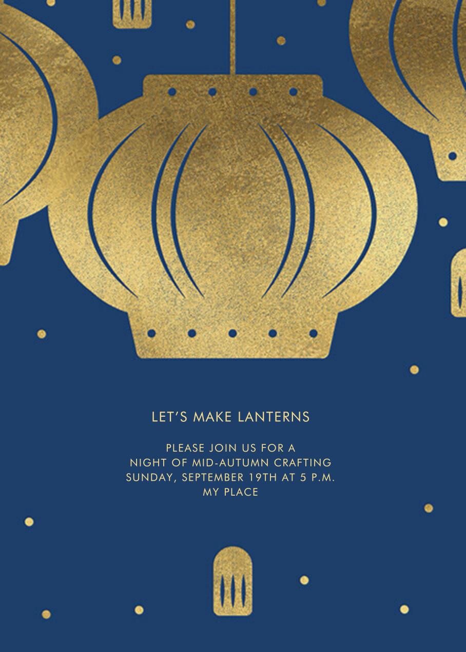 Paper Lantern (Invitation) - Navy - Paperless Post