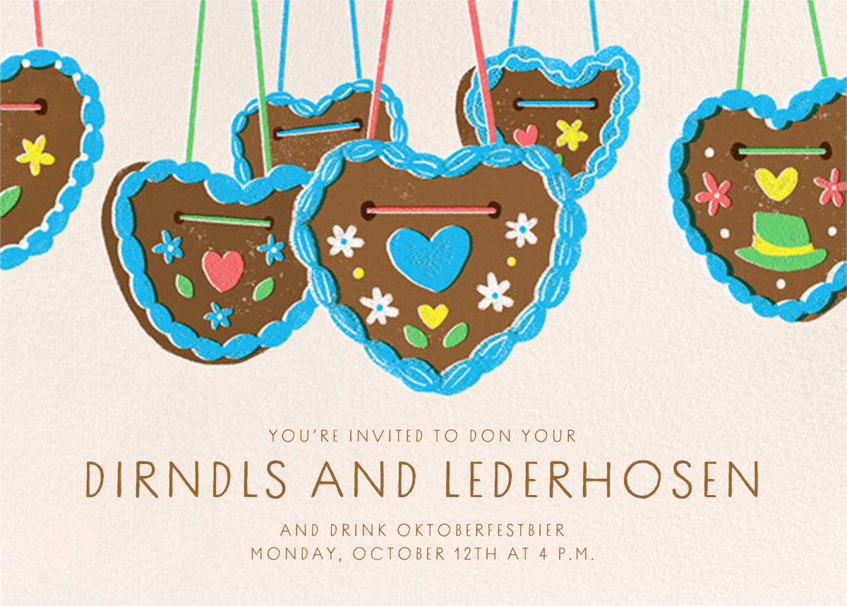 Gingerbread Hearts - Paperless Post