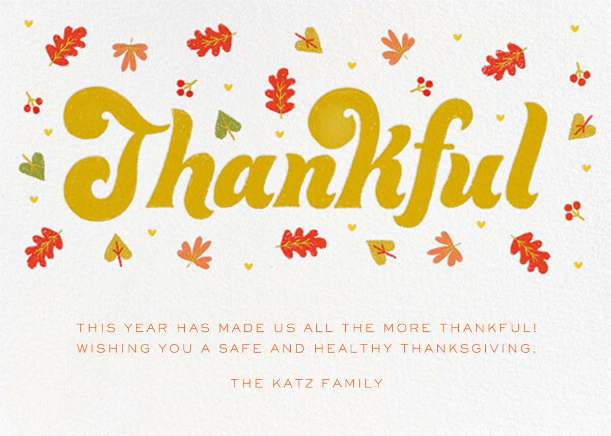 Thankful Groove - White - Paperless Post