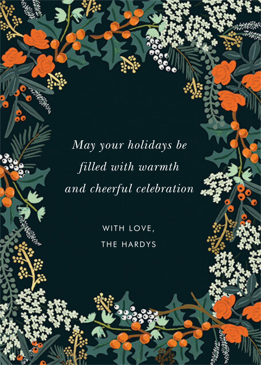 Wildwood Holiday Photo - Rifle Paper Co. - Back