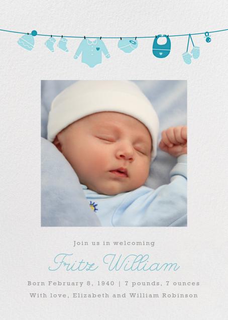 Onesie Photo - Light Blue - Paperless Post - Birth