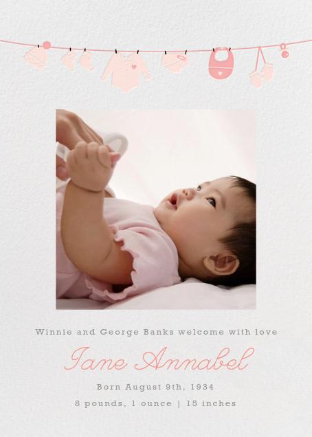 Onesie Photo (Photo) - Pink - Paperless Post - Birth