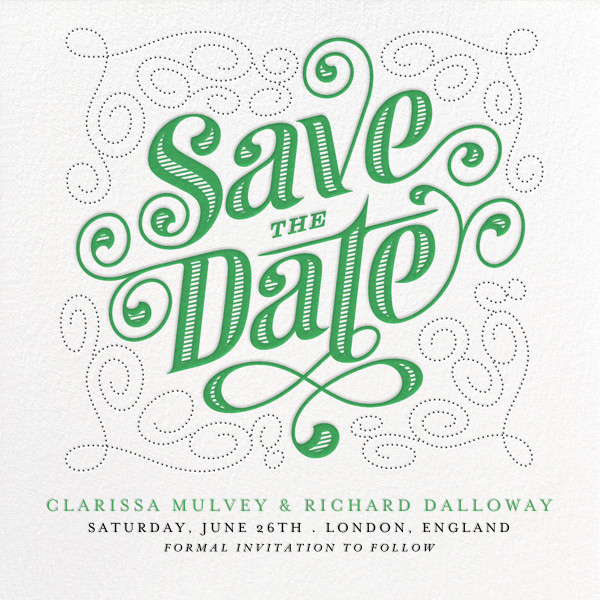 Mercer (Save the Date) - Emerald - Paperless Post - Save the date