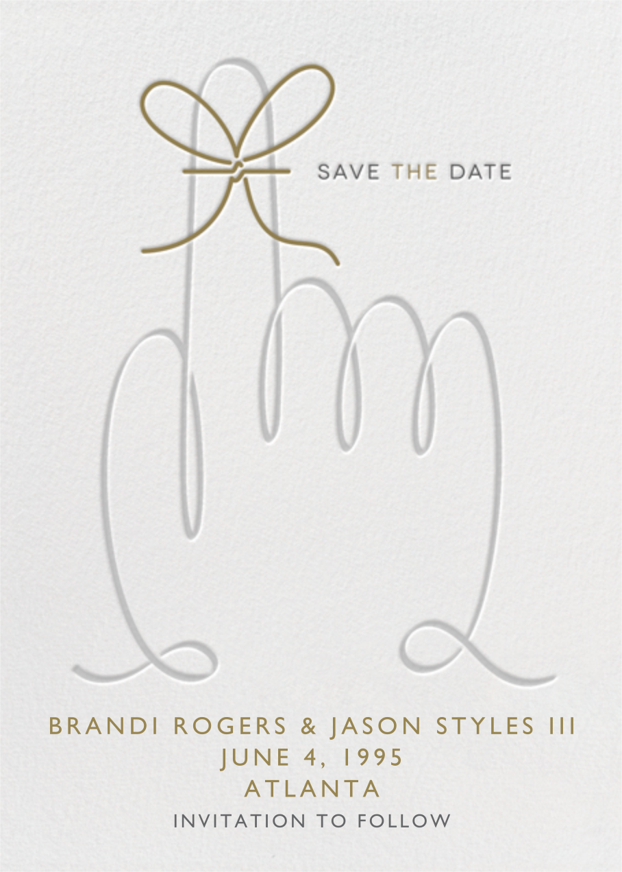 String Reminder - Paperless Post - Party save the dates