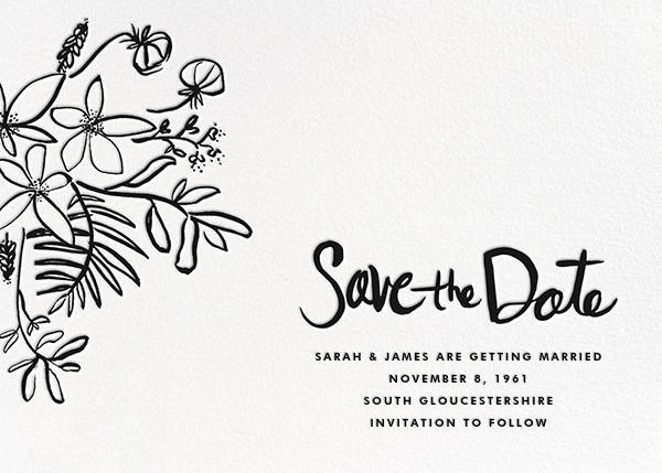 Floral Arrangement - Black - Linda and Harriett - Save the date