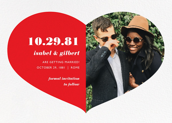 Love Saves the Date - Red - Paperless Post