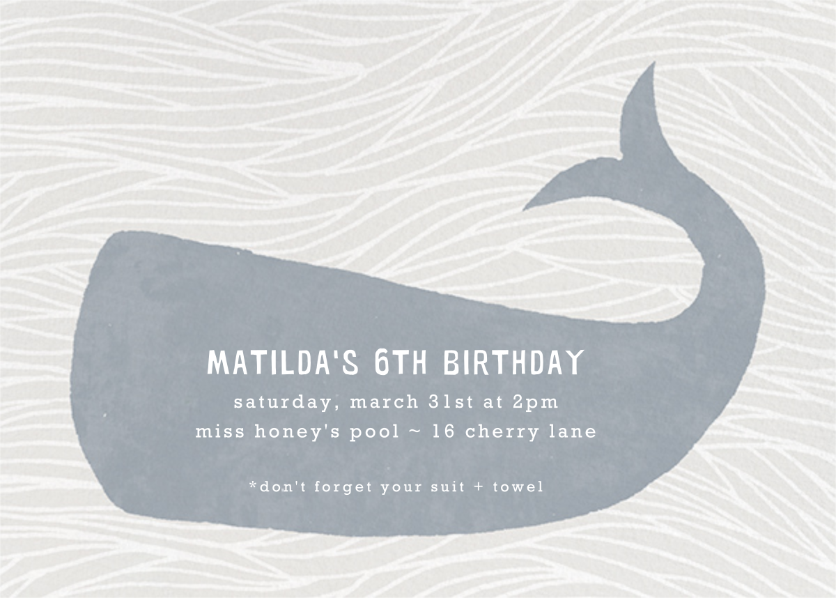 Vintage Whale - Paperless Post - Kids' birthday