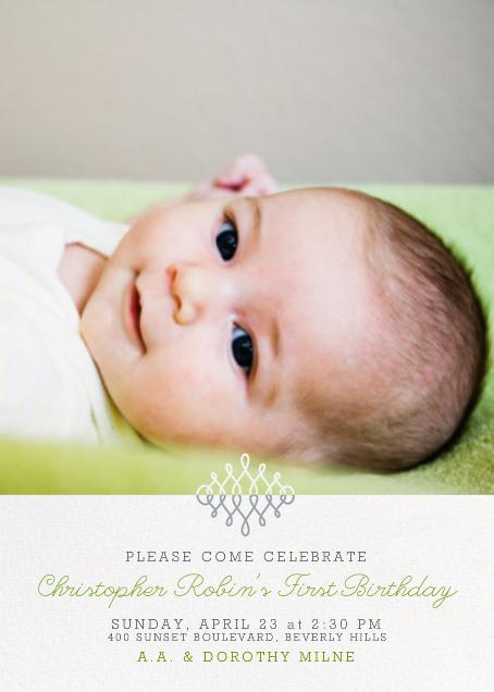 Photo Filigree - Paperless Post - 1st birthday