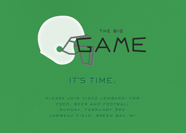 The Big Game - Paperless Post - Sports