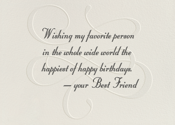 Wishing You A Happy Birthday - Paperless Post - Birthday - card back