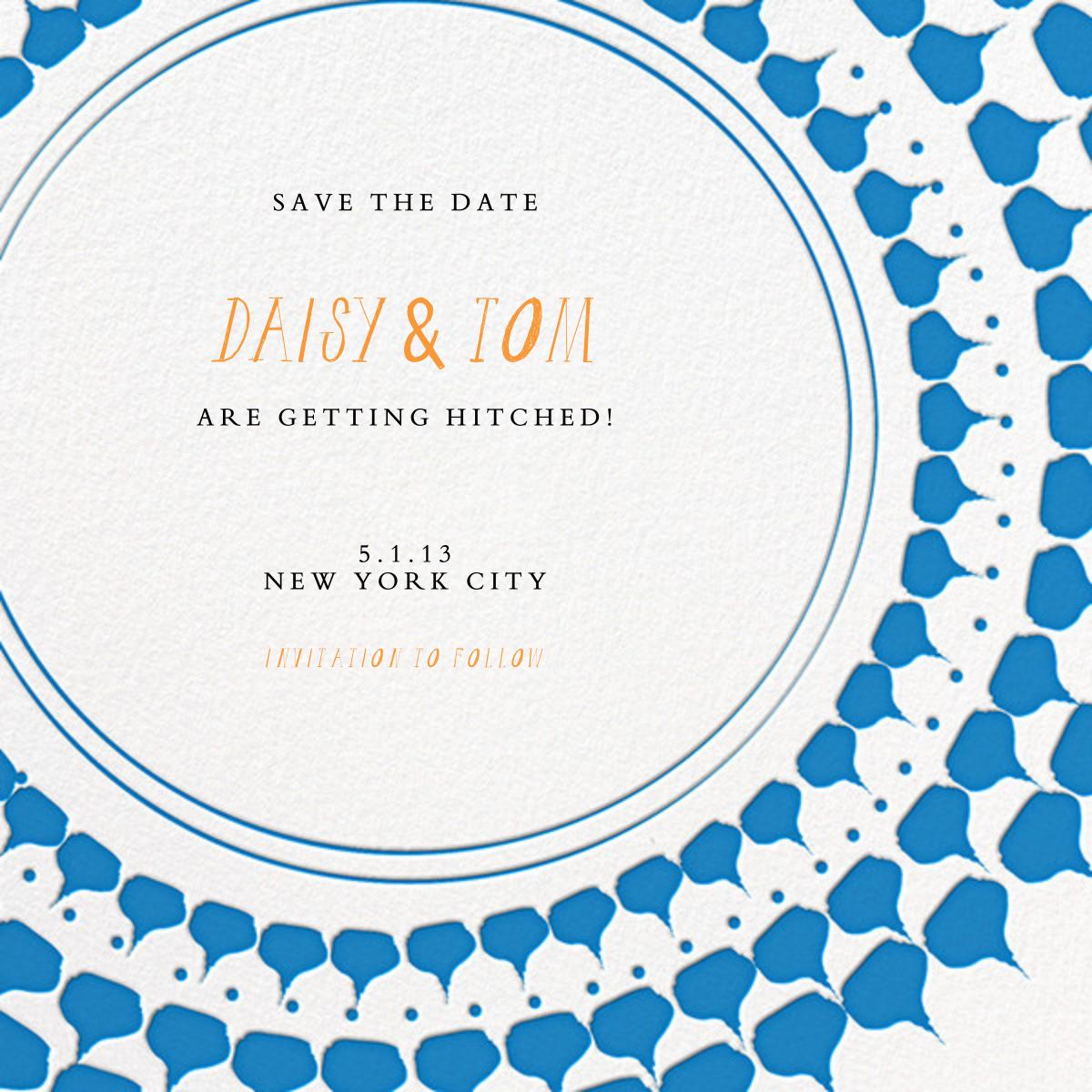 Spec in Capri - Blue - Mr. Boddington's Studio - Party save the dates