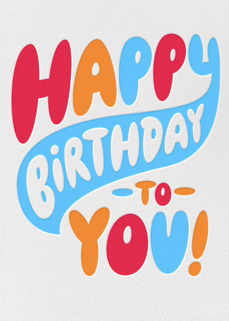 Birthday Bubble Letters Online At Paperless Post
