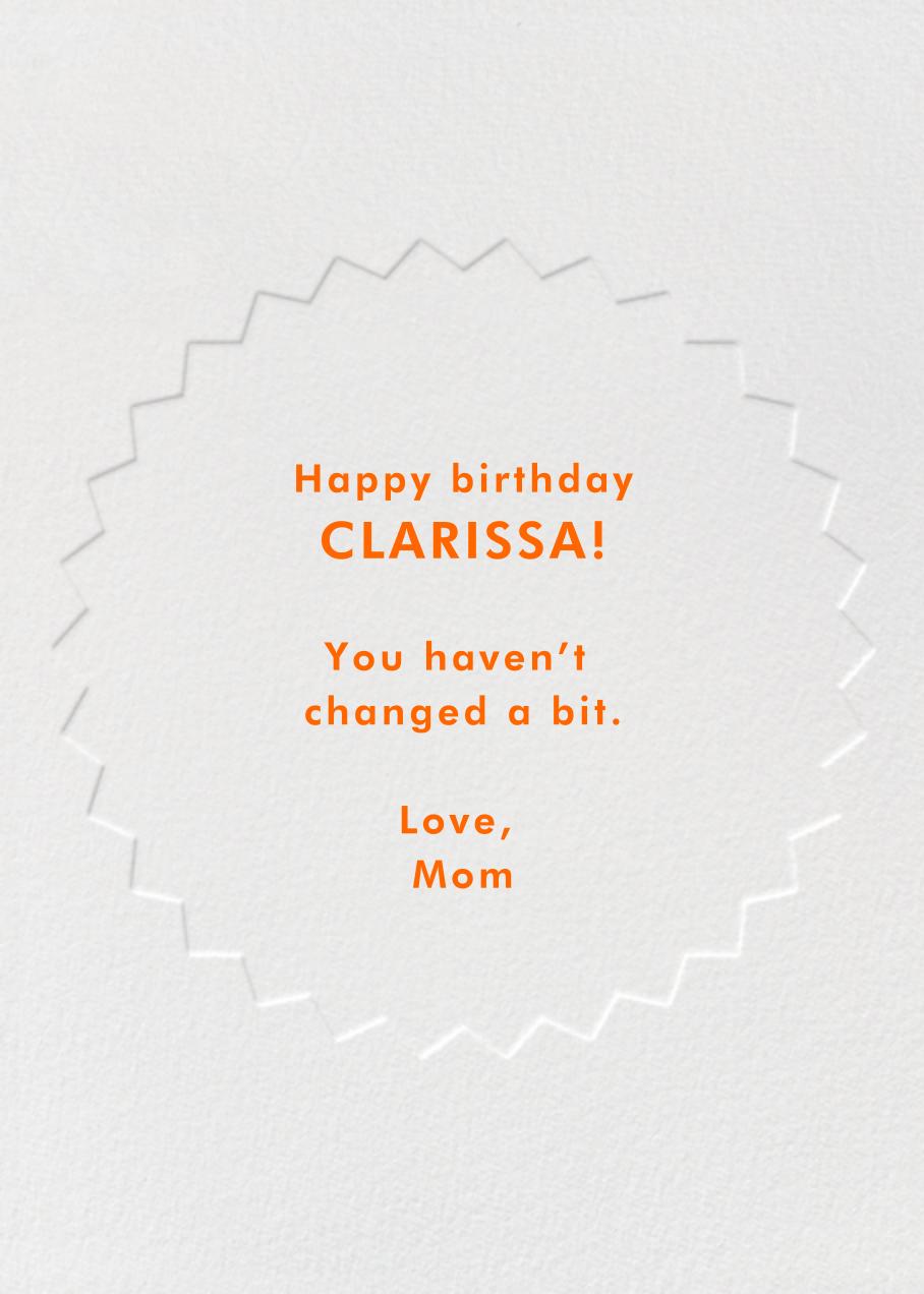 Birthday Burst Sticker - Paperless Post - Back