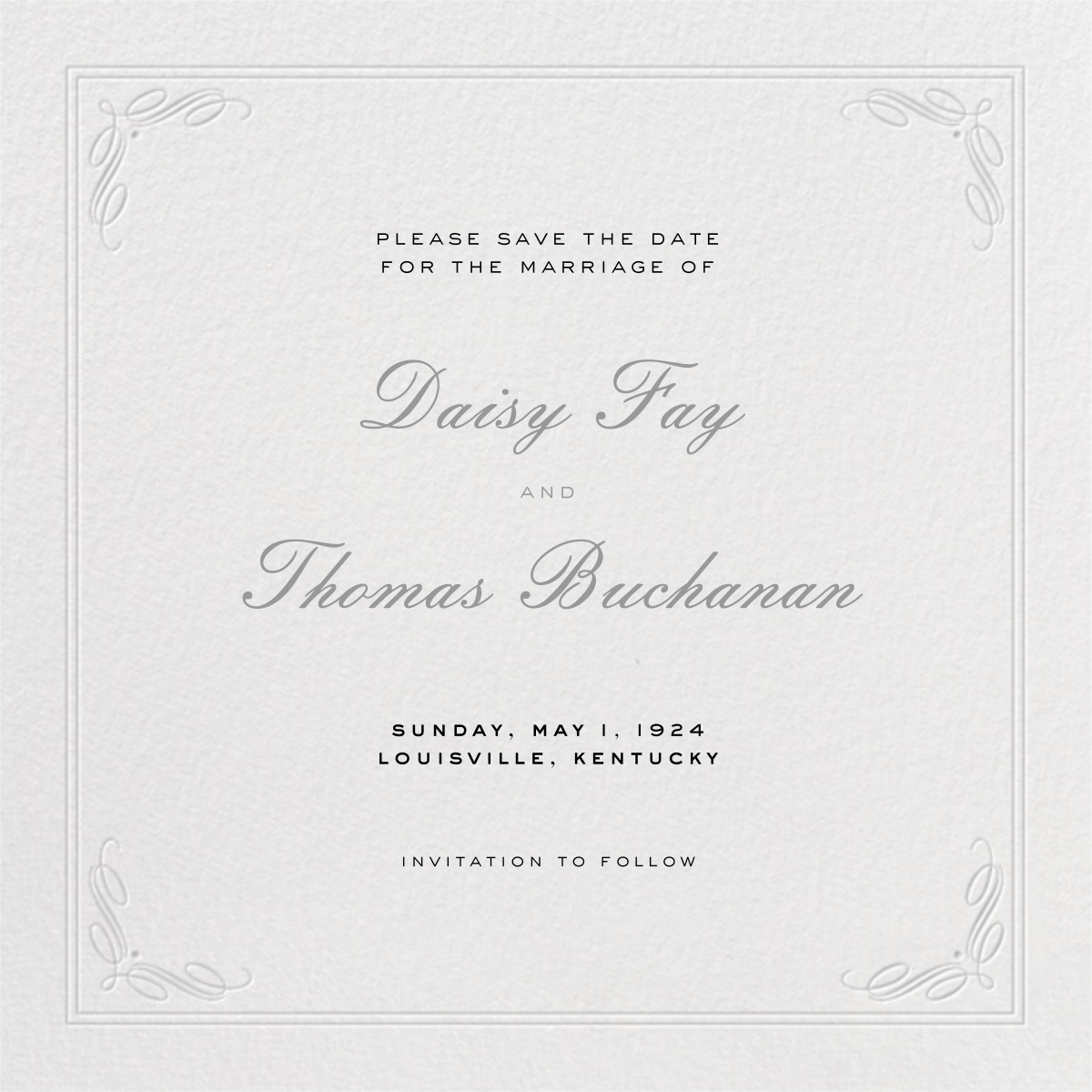 Regency (Square) - Gray - Paperless Post - Save the date