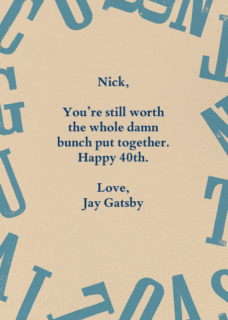 40 Looks Great On You - Paperless Post - Birthday - card back