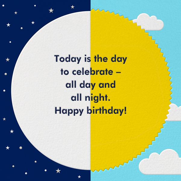 Sol y Luna - Paperless Post - Birthday - card back