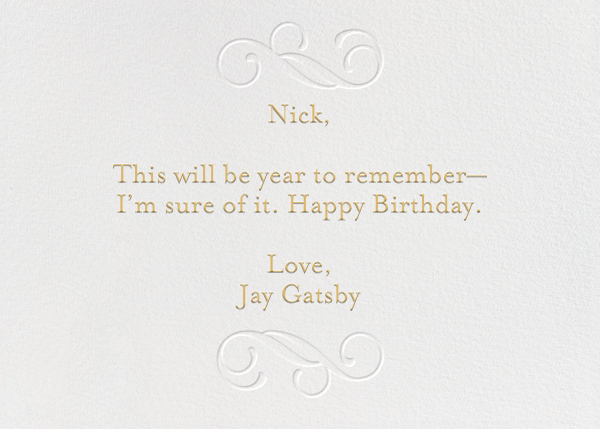 Have A Happy Birthday - gold - Paperless Post - Birthday - card back