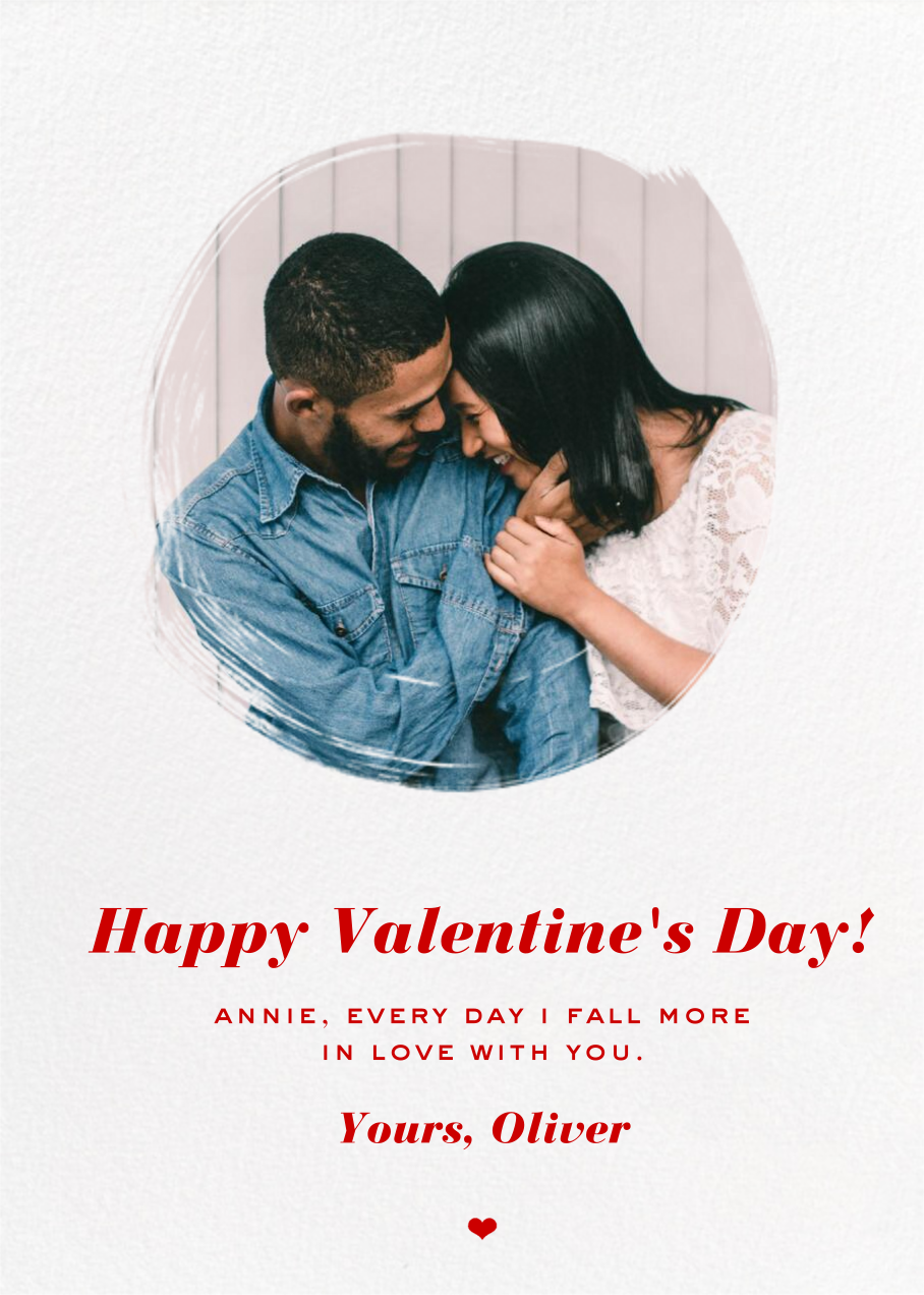 Painted Circle - Paperless Post - Valentine's Day