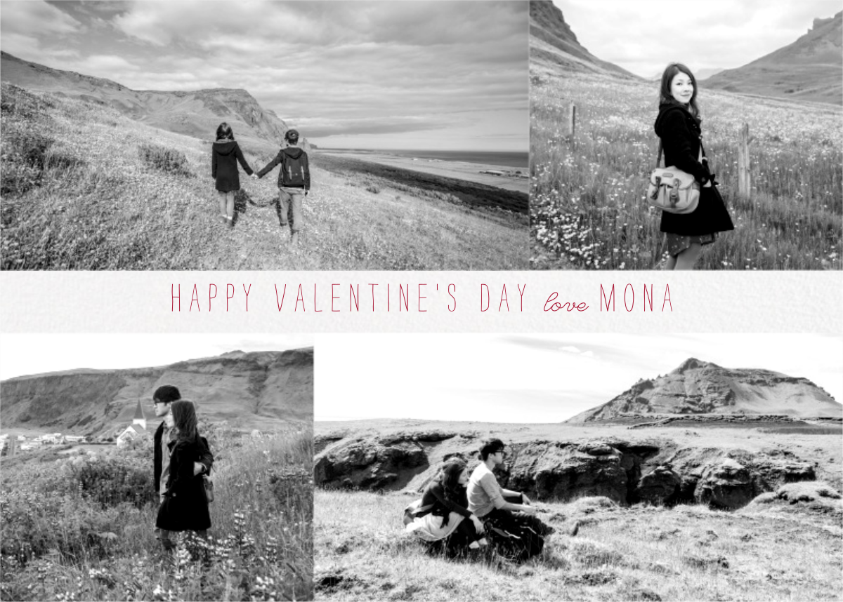 Four Photo Title Card - Ivory - Paperless Post - Valentine's Day