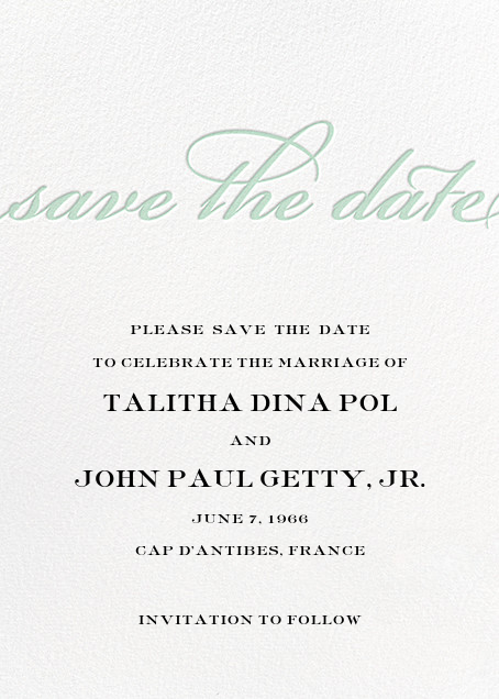 Simple Script (Save the Date) - Mint - Paperless Post - Save the date