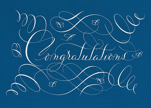 Congratulations Flourish - Indigo - Bernard Maisner - Congratulations