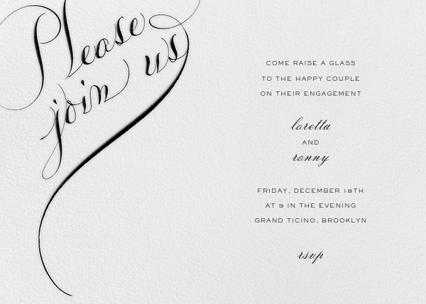 Please Join Us (Horizontal) - Black - Bernard Maisner - 50th wedding anniversary invitations