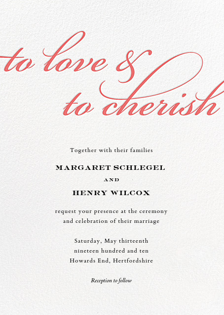 Simple Script Invitation Coral Online At Paperless Post