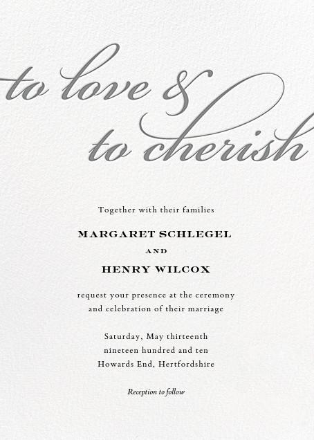 Simple Script (Invitation) - Gray - Paperless Post - All