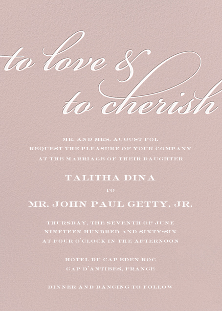 Simple Script (Invitation) - Antique Pink - Paperless Post - All
