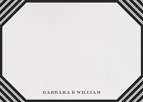 Claridge (Horizontal) - Black - Paperless Post - null