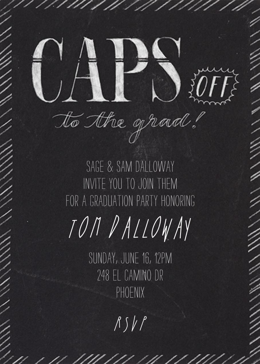 Caps Off - Crate & Barrel - Graduation party