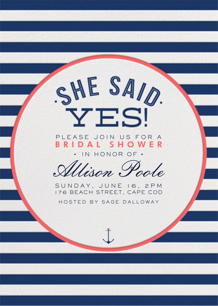 nautical stripe bridal shower online at paperless post