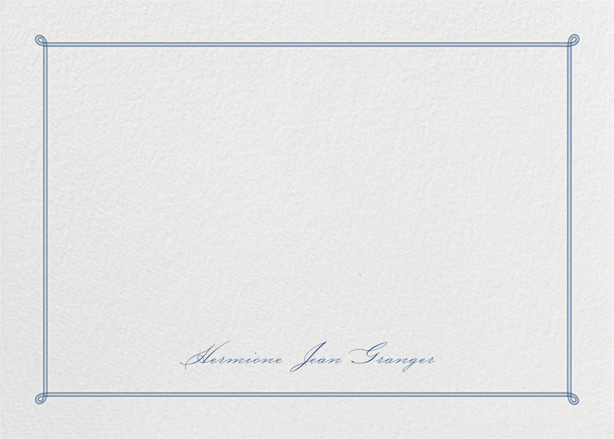 Double Loop Frame Horizontal - Dark Blue - Paperless Post - Personalized stationery