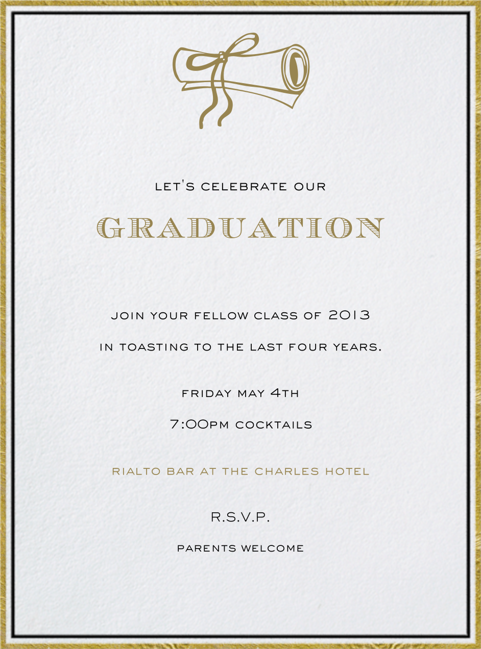 Pall Mall - Paperless Post - Graduation party