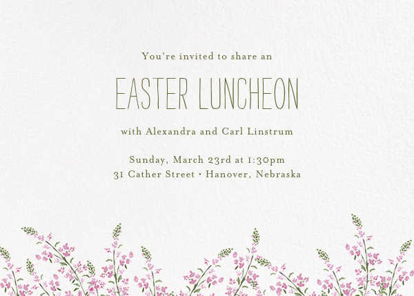 Heathers (Horizontal) - Lilac - Paperless Post - Easter