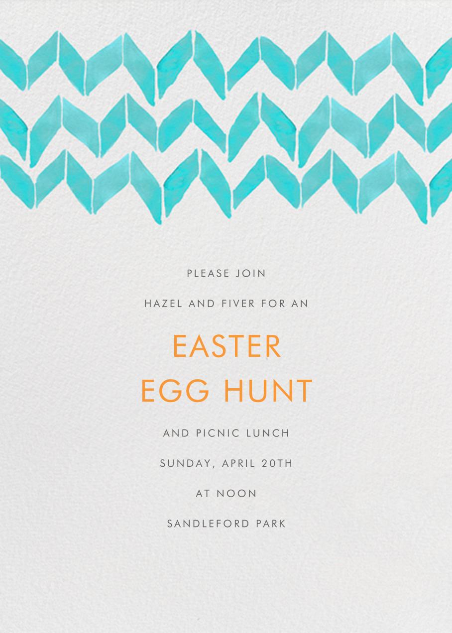 Big Zig Zag - Aqua - Linda and Harriett - Easter