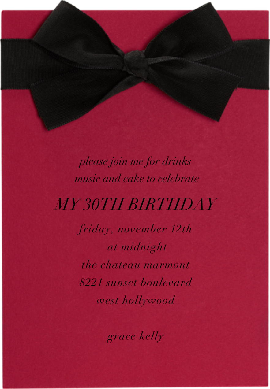 Madame X - Paperless Post - Adult birthday