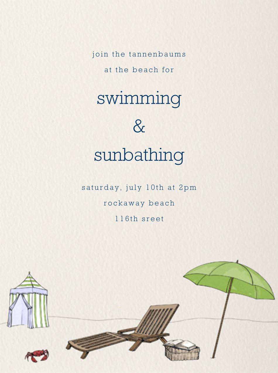 Beach Vignette - Cream - Paperless Post - Beach party