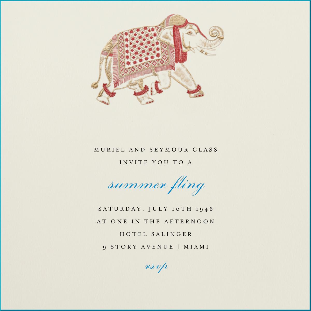 Engraved Elephant - Bernard Maisner - Engagement party