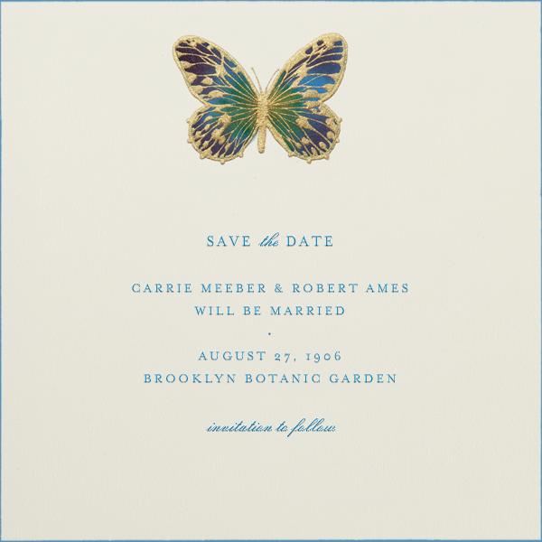 Hand Painted Butterfly - Green Purple - Bernard Maisner