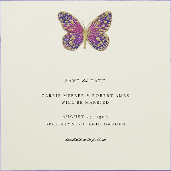 Hand Painted Butterfly - Pink Purple - Bernard Maisner - General entertaining