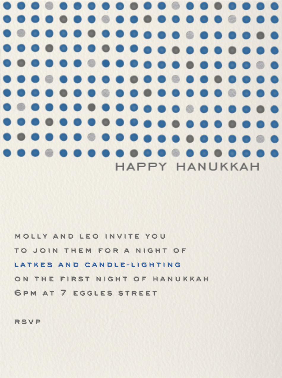 Hanukkah Dots Invitation - Paperless Post - Hanukkah