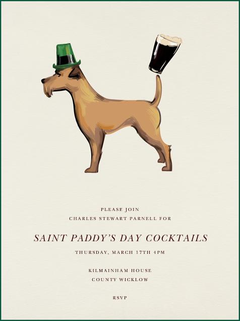 Irish Terrier - Paperless Post - St. Patrick's Day