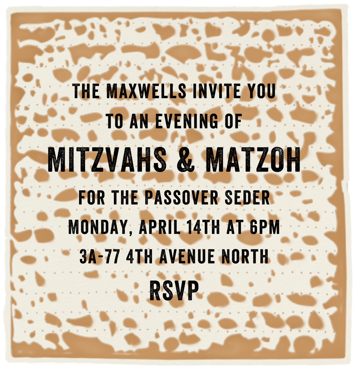 Matzoh - Paperless Post - Passover