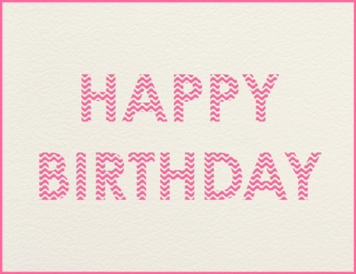 Crete (Pink) - Paperless Post - Birthday