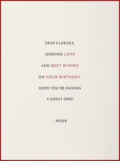 Owl (Cream) - Paperless Post - Birthday - card back
