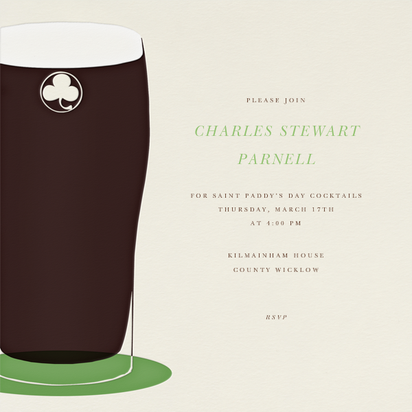 Pint of Stout - Paperless Post - St. Patrick's Day