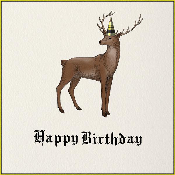 Stag (Cream) - Paperless Post - Birthday